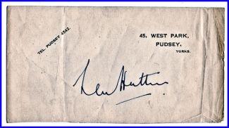 len hutton-autograph